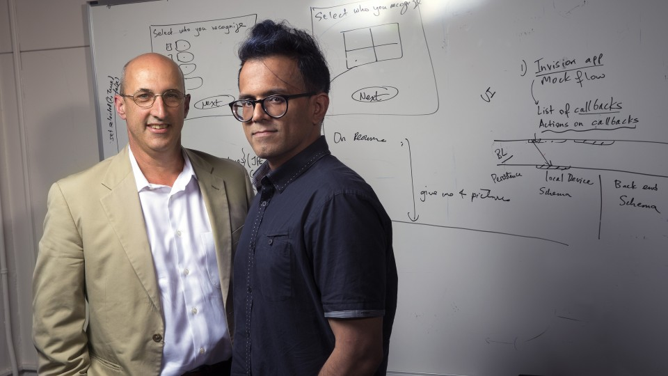 UNL's Kirk Dombrowski (left) and Bilal Khan will head an interdisciplinary team to develop ODIN, short for Open Dynamic Interaction Networks.