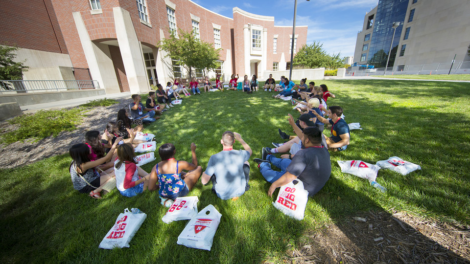 First-generation students take part in a First Huskers program activity.