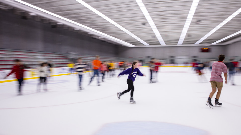 Free skate nights for students begin Sept. 1 at the John Breslow Ice Hockey Center, which is located northwest of Pinnacle Bank Arena.
