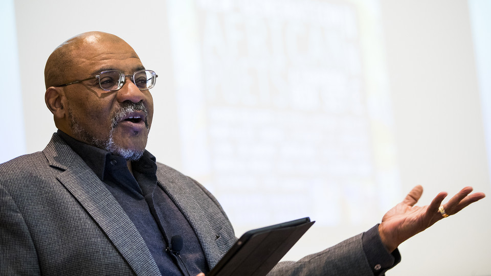 Kwame Dawes delivered his Nebraska Lecture on Nov. 10, 2016. The university's Research Council is seeking faculty nominees to deliver the prestigious talks.