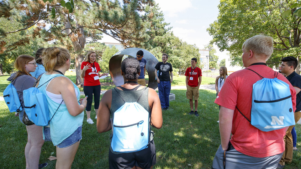 Freshmen participate in a First Husker session on Aug. 13. Successes of the program have led to an initiative offering year-round support to first-generation college students.