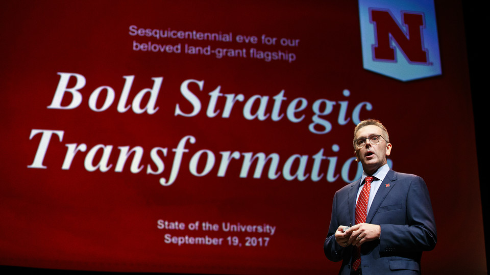 Chancellor Ronnie Green delivered the 2017 State of the University address on Sept. 19, mapping out university initiatives for the year ahead.
