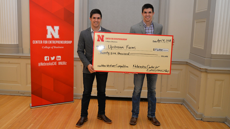 Joseph and Matthew Brugger and their Upstream Farms business plan won a New Venture Competition grand prize in 2018.