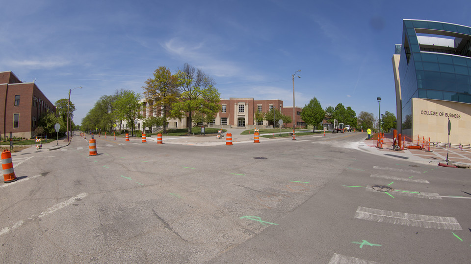 Water main project temporarily diverts campus traffic flow