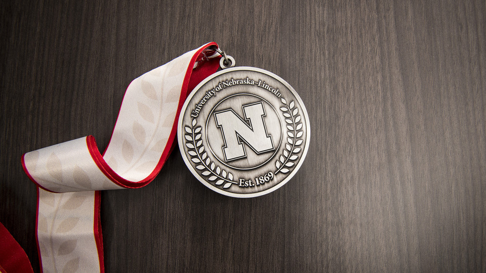 All current faculty who have earned professorships from the Office of the Executive Vice Chancellor received this medallion during a ceremony on Nov.