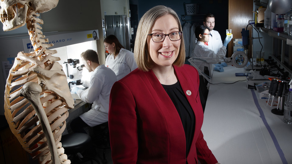 Rebecca Wachs, assistant professor of biological systems engineering, earned a National Science Foundation CAREER award to support her development of a non-opioid treatment of back pain