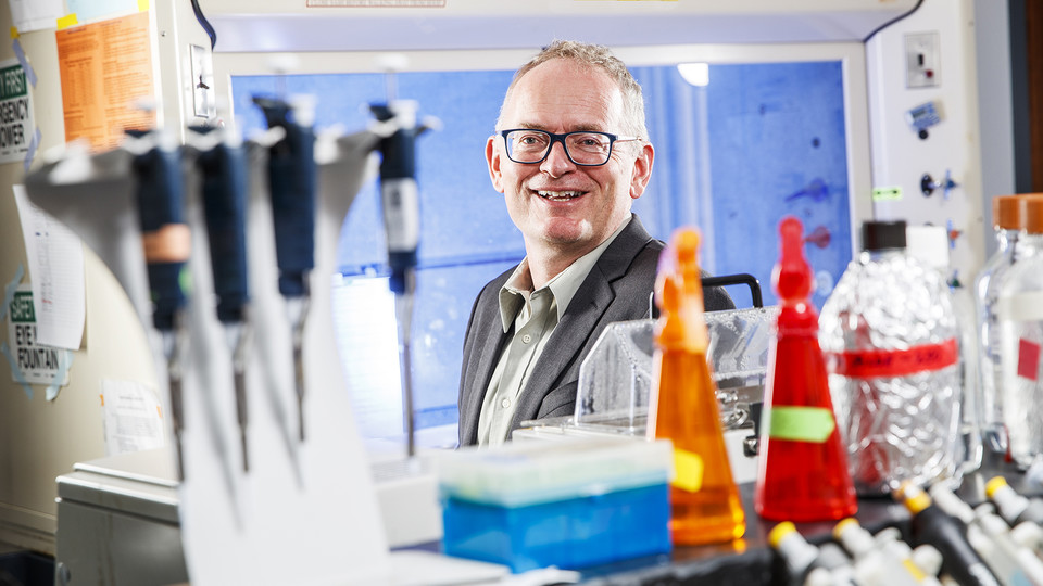 Janos Zempleni is leader of the Nebraska Center for the Prevention of Obesity Diseases. The research center recently received an $11 million extension grant from the National Institutes of Health.