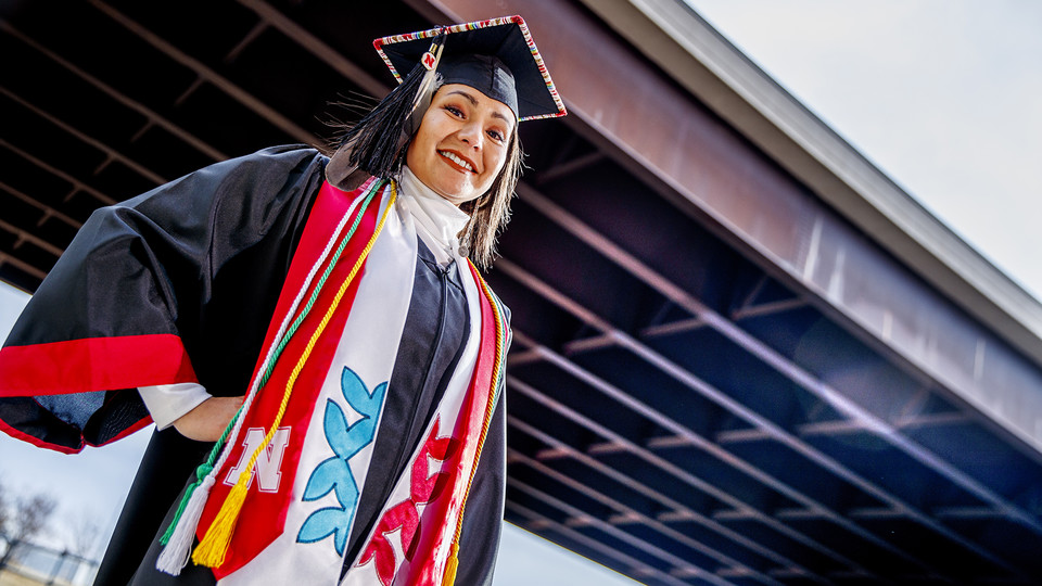 Angelica Solomon, a second-generation collegian, hopes to use her Nebraska Engineering degree to give back to Nebraska and the Winnebago community.