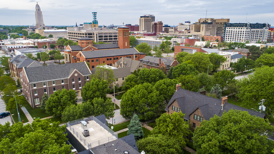 Greek row and downtown Lincoln