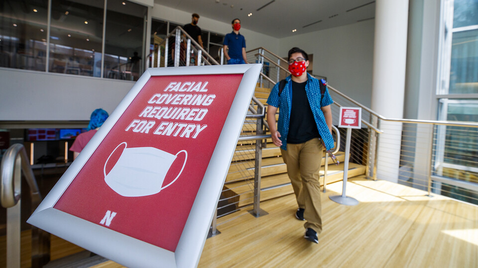 The university is requiring that facial coverings be worn during the fall semester when indoors and when social distancing cannot be observed. Students and employees will each receive two masks each.