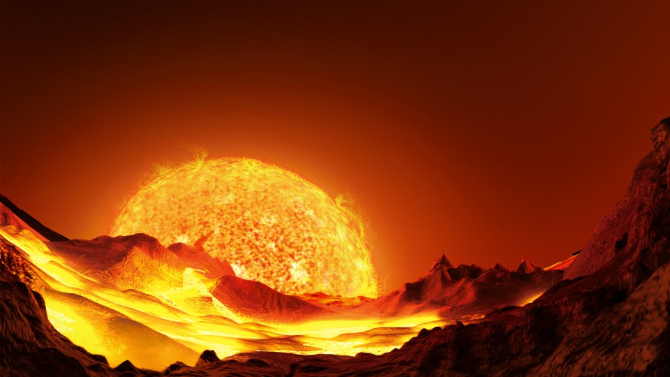 """Artist's conception of Kepler 10b, the first confirmed terrestrial, or rocky, planet outside the solar system. This image is featured in """"A Planet for Goldilocks,"""" playing this fall at UNL's Mueller Planetarium."""