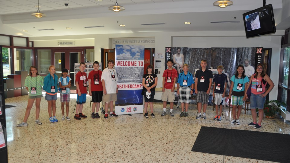 Weather Camp participants from 2013. UNL hosts the annual camp June 9-113.