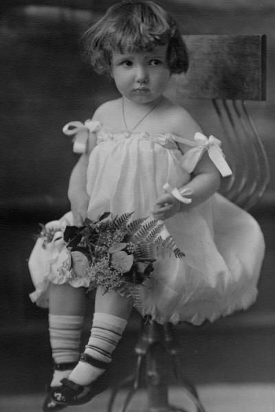 "Danish girl photo featured in ""Danish Children Growing up American."""