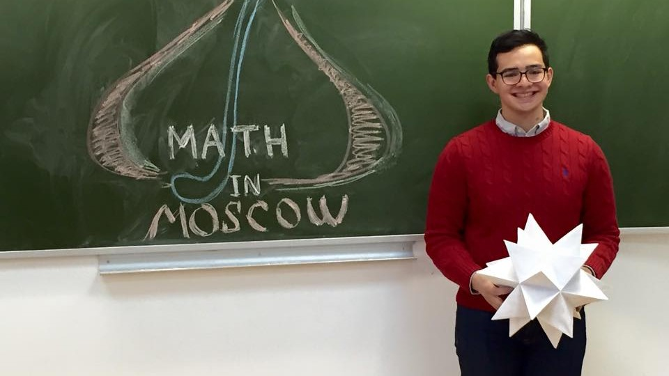 Aaron Calderon, a junior mathematics and philosophy major at UNL, will use his Goldwater scholarship to continue his research on applications of geometry and computer science to the mathematical study of braids.