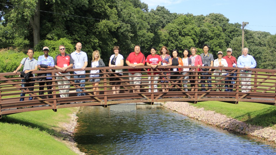 This year's group of IANR Roads Scholars at Grove Trout Rearing Station.