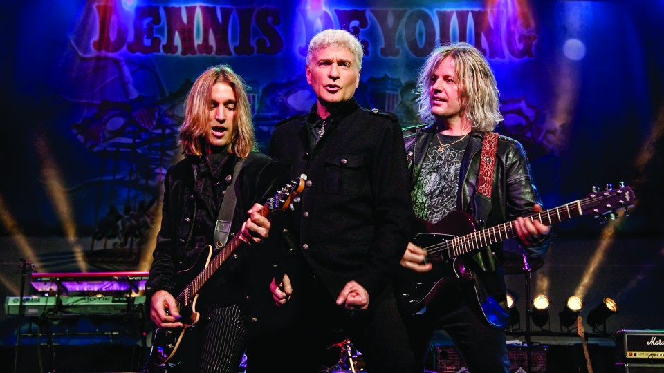 Dennis DeYoung (center), former lead singer and songwriter of Styx, will perform March 4 at the Lied Center for Performing Arts.