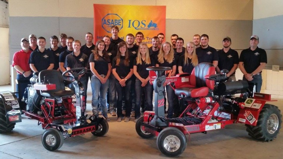UNL's quarter-scale tractor A team took top honors at the International Quarter-Scale Tractor Student Design Competition in Peoria, Illinois, June 2-5. UNL's X team won the design category and placed third overall in the X team division.