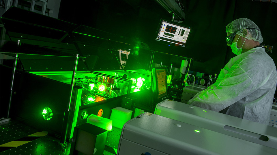 Laser technicians from the University of Nebraska-Lincoln's Extreme Light Laboratory will help visitors learn more about the nature of light and laser technology during Sunday with a Scientist March 12 at Morrill Hall.