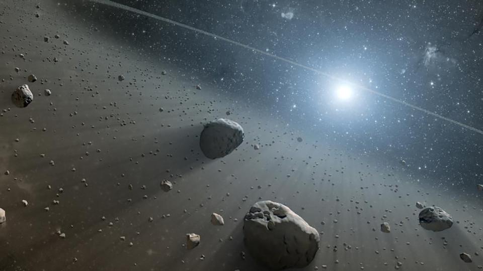 Concept of asteroids near the star Vega