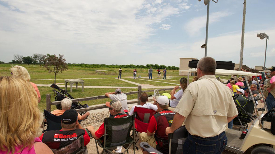 Spectators gather to watch participants in the 2015 4-H Shooting Sports National Championships at Heartland Public Shooting Park near Alda. The 2017 event is June 25-30 at the shooting park and the Heartland Events Center in Grand Island.