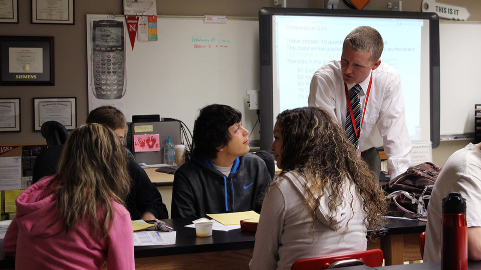 Shelby Aaberg teaches a math class at Scottsbluff High School in 2013. Most rural Nebraskans say diverse viewpoints add value and feel at ease with people from different backgrounds, according to the 2017 Nebraska Rural Poll.