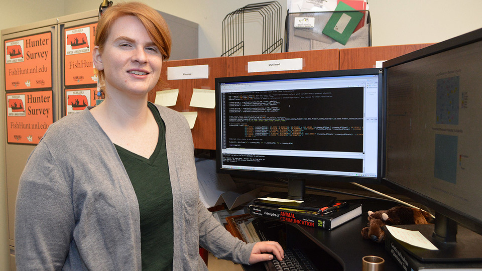 Lyndsie Wszola, research associate with Nebraska Cooperative Fish and Wildlife Research, helped develop the open-source Pheasant Habitat Simulator.