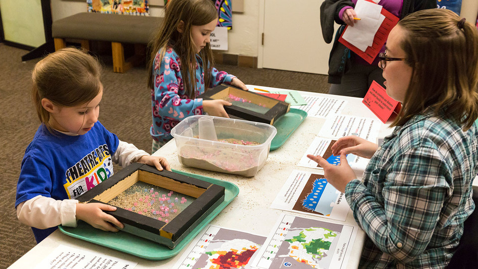 Visitors at Dinosaurs and Disasters can learn about the natural world through experiments and games. The event is 9:30 a.m. to 4:30 p.m. Feb. 3 at Morrill Hall.