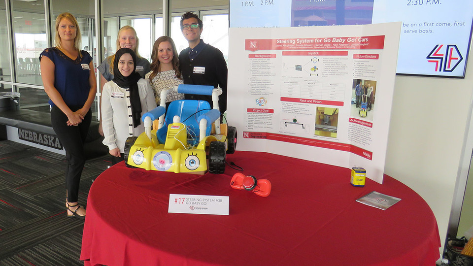 The Senior Design Showcase features nearly 50 engineering student projects. The free, public event is 1 to 3:30 p.m. April 27 in Memorial Stadium's East Stadium Club Level.