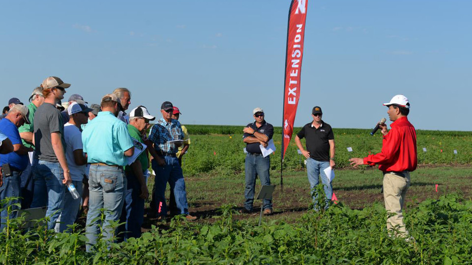 Amit Jhala, weed management specialist with Nebraska Extension, speaks during the 2017 Weed Management and Cover Crops Field Day. The 2018 event is 8 a.m. to 3 p.m. June 27 at the South Central Agricultural Laboratory near Clay Center.