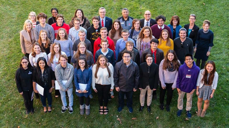 The University of Nebraska–Lincoln recognized 70 freshmen as Big Red Scholars on Nov. 16.