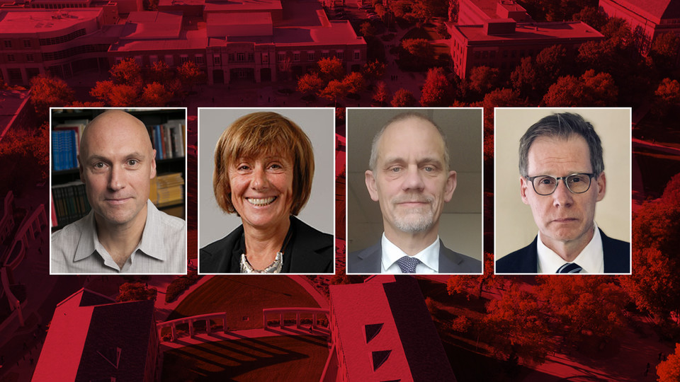 Finalists vying to serve as Nebraska's next dean of Arts and Sciences are (from left) Christopher Boyer, Norma Bouchard, Valerio Ferme and Mark Button. Interviews will be held Jan. 7-18.