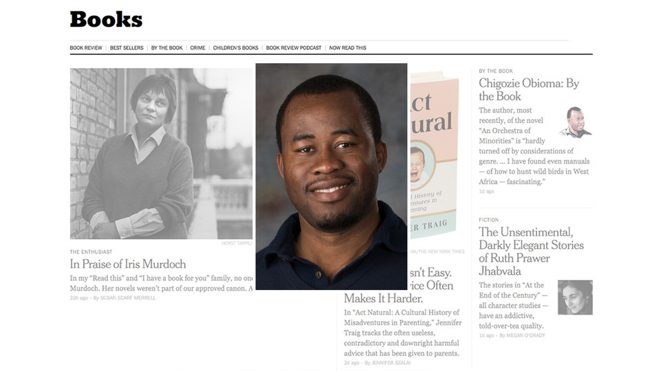 Nebraska's Chigozie Obioma was recently featured in The New York Times.
