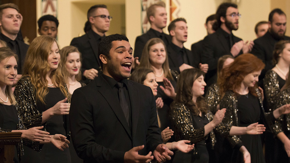 """The University Singers (pictured) will perform during """"A Celebration of Music and Milestone, N150"""" Feb. 15 at the Lied Center for Performing Arts."""