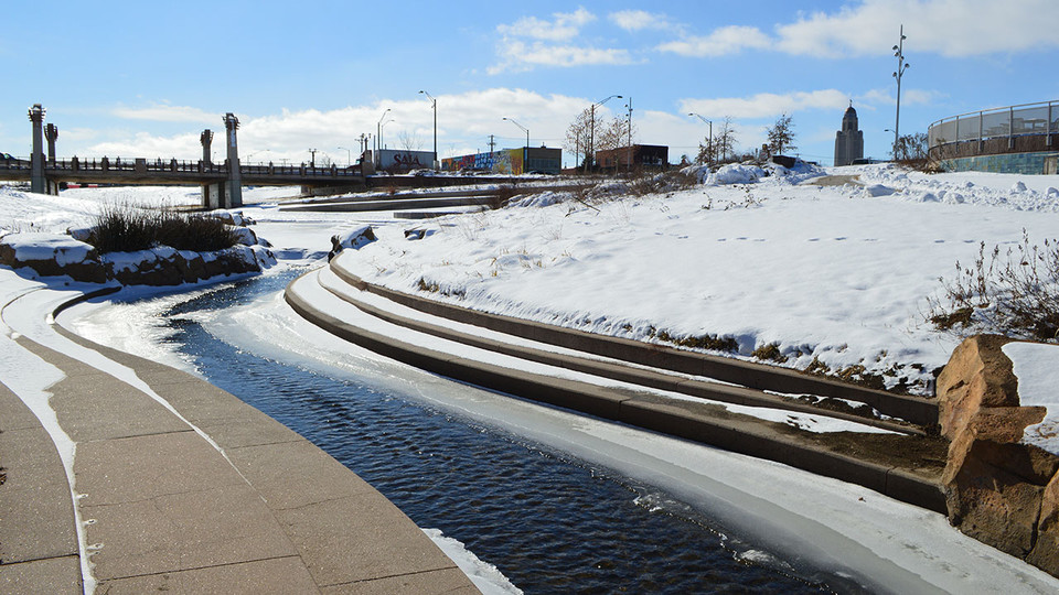 The City of Lincoln built a system to help manage Antelope Creek water flow and prevent flood damage through downtown Lincoln. The project was completed in 2012.