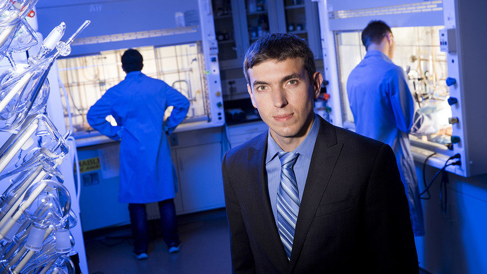 Alexander Sinitskii, associate professor of chemistry at Nebraska, will lead a multi-institution research team investigating ways to incorporate DNA nanotechnology as a construction tool to assemble graphene in new ways that could make the material more useful in electronic devices, among other applications. The project is funded by a three-year, $4.5 million grant from the U.S. Department of Defense's Office of Naval Research.