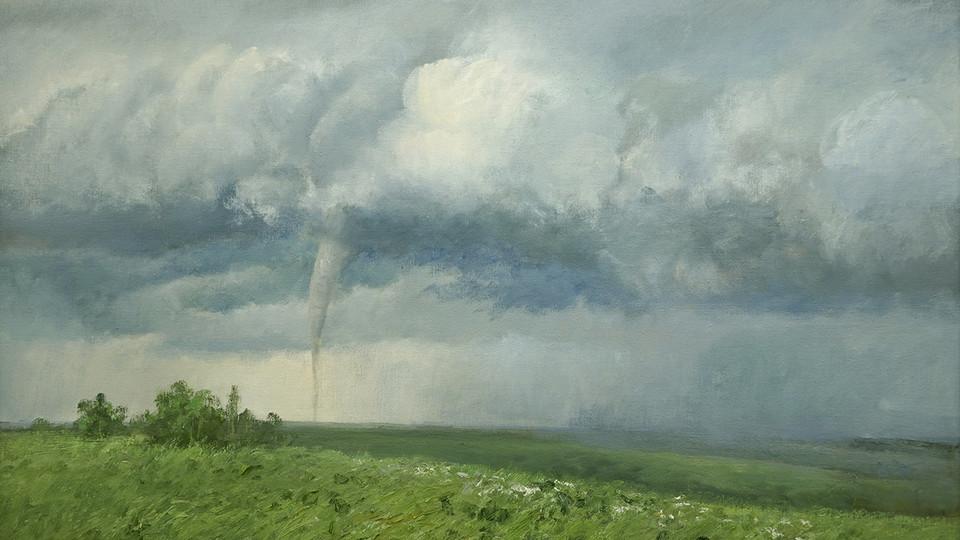 """""""Wings of Ezekiel"""" by Judith Mackey, 2002, oil on canvas"""