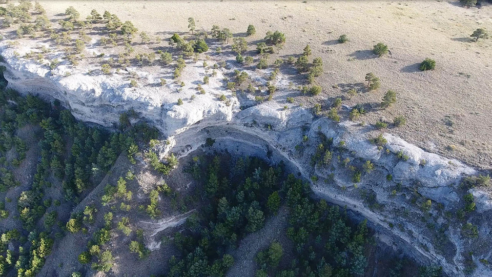 The University of Nebraska–Lincoln's Jesse Korus, Matt Joeckel and Shane Tucker have worked to document and describe, via drone footage and computer modeling, the Haystack Mountain conglomerate in the Wildcat Ridge in Western Nebraska.