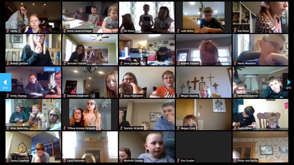Youth from more than 200 locations across Nebraska and four other states participated in the first Living Room Learning livestream March 17. The Nebraska 4-H series will stream each Tuesday and Thursday at 2 p.m. Central Time for as long as schools remain closed to slow the spread of COVID-19.