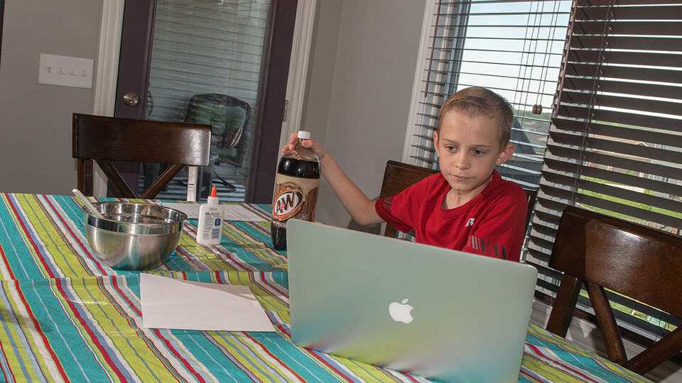 Evan Washburn of Lincoln participates in the Virtual Vibes 4-H camp on June 2. It was the first in a series of virtual 4-H camps taking place this summer.