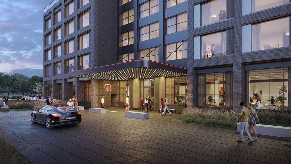 The Scarlet Hotel will be home to academic space managed by the University of Nebraska–Lincoln's College of Education and Human Sciences and will house the Hospitality, Restaurant and Tourism Management program.