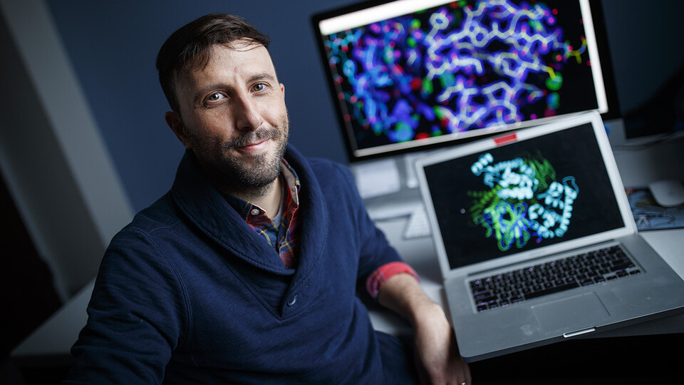 A team of Husker biochemists led by Alex Vecchio has earned a five-year, $1.8 million grant from the Department of Health and Human Services' National Institute of General Medical Sciences to understand how the structure and assembly of membrane proteins influence the function and dysfunction of tight junctions.