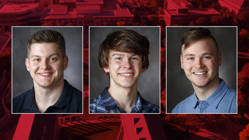 (From left) Alex Christensen, Ethan McDermott and Grant Paisley
