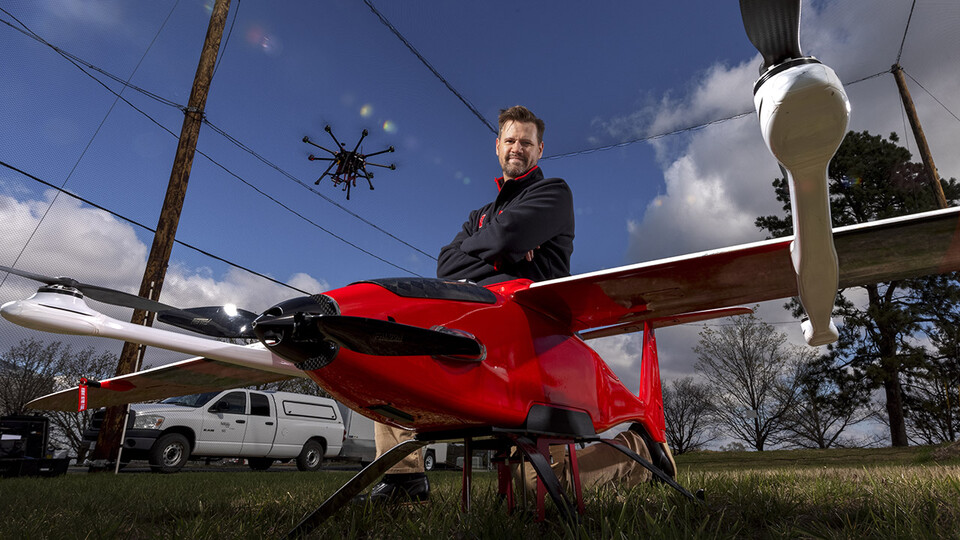 Justin Bradley, assistant professor of computer science and engineering at Nebraska, is using a nearly $500,000, five-year grant from the National Science Foundation's Faculty Early Career Development Program to give drones and other robots the ability to sense and adapt to a changing environment, diverting energy to the most important tasks at hand while pausing lower-priority work.