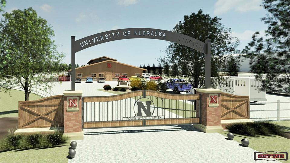 An artist's rendering of the entrance to the planned Equine Sports Complex at Nebraska.