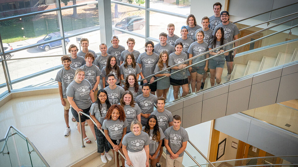Thirty-five students started this fall as Clifton Builders at the University of Nebraska–Lincoln. The program aims to help Nebraska, the nation and the world identify the next generation of high-achieving leaders, entrepreneurs and business developers to create economic growth and prosperity. This photo was taken prior to the current Lincoln-Lancaster County mask mandate.