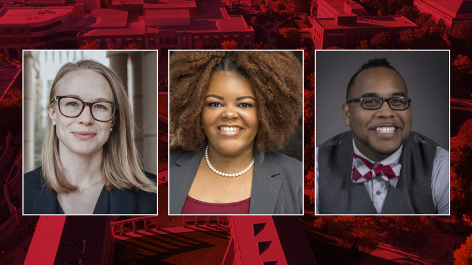 Three finalists — (pictured, from left) Angela M. Person, Nkenge Friday and Michael Dixon — have been selected through a national search for Nebraska's first assistant vice chancellor for strategic initiatives within the Office of Diversity and Inclusion.