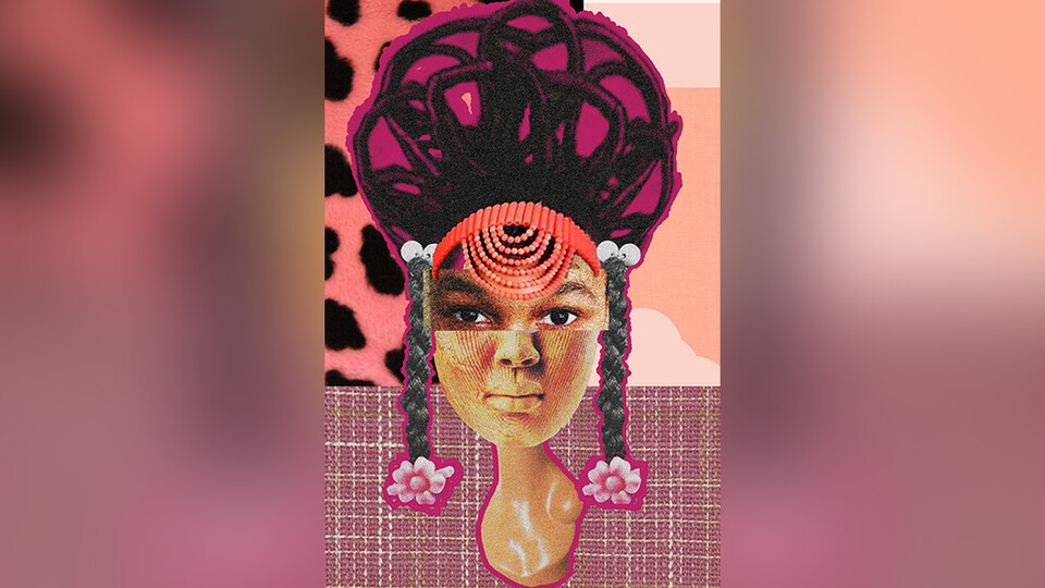 "Christine Asuoha, an August graduate, recently won Best in Show in the 2020 Southeastern Center for Contemporary Art Student Showcase. Shown here is her artwork, ""The Heads of Asuoha,"" a digital collage."
