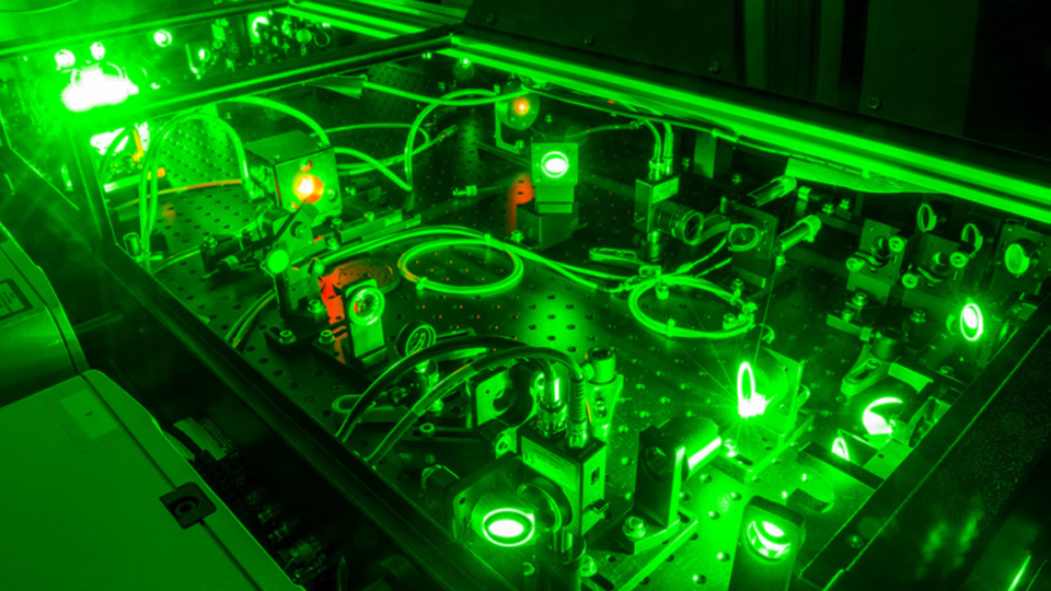 One of the lasers at the Extreme Light Laboratory at the University of Nebraska-Lincoln