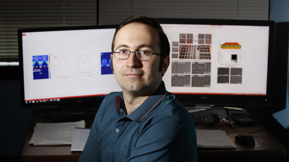 Nebraska's Christos Argyropoulos has received a three-year, $750,000 early career grant from the Office of Naval Research's Young Investigator Program. He will use the award to advance research into using ultrafast, short-pulse lasers to modify metal surfaces. The work has potential use in national defense applications.