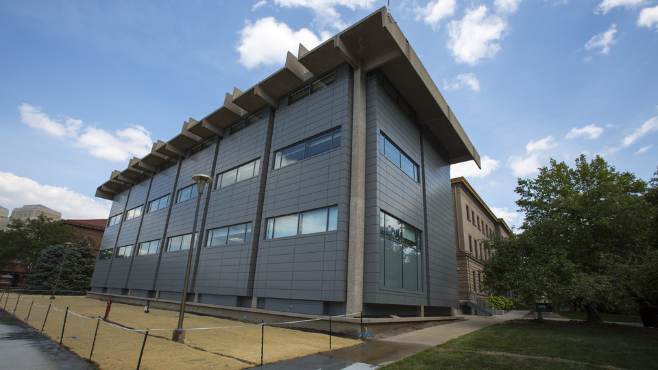 The renovation of Behlen Laboratory includes an update to the exterior façade and a complete remodel of the top three floors. The redesigned space will be used to further national defense research at Nebraska.